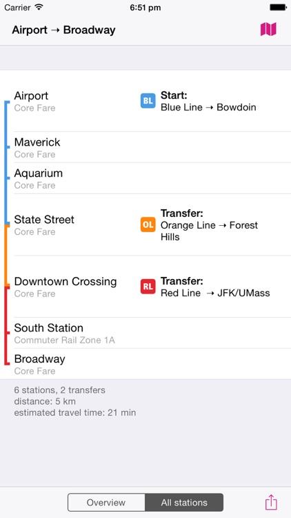 Boston Rail Map screenshot-3