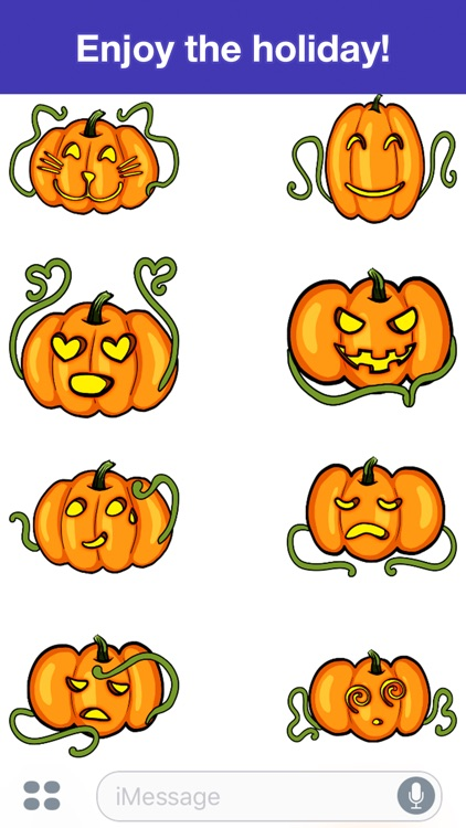 Pumpkins - Halloween stickers screenshot-3