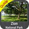Zion National Park gps and outdoor map with Guide