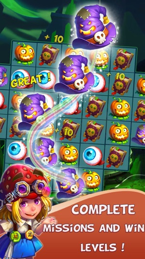 halloween witch fruits blast on the app store