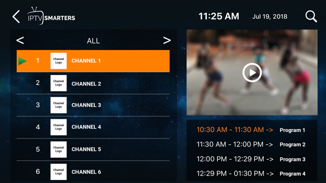 ‎IPTV-Smarters Player Screenshot