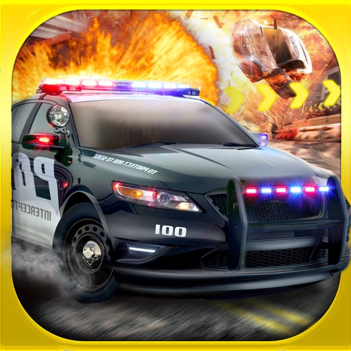 3D Police Run Drag Racing Simulator - A Real Cops Chase Driving Race