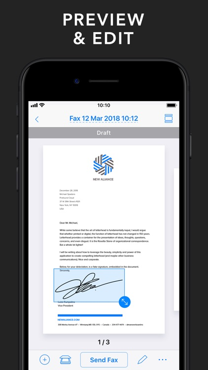 Fax App - Send Fax from iPhone screenshot-3