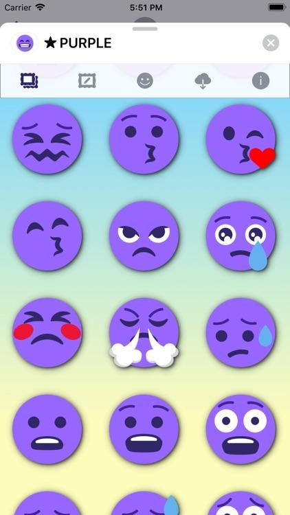 PURPLE Emoji • Stickers screenshot-5