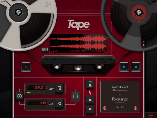 Tape by Focusrite on the App Store