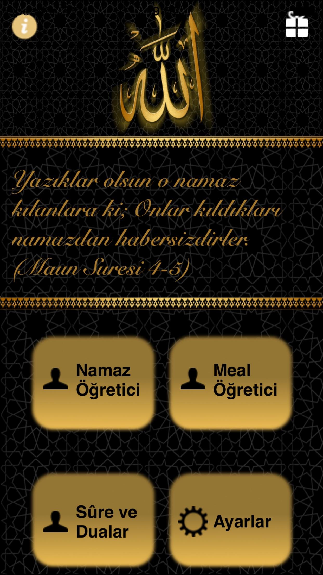 Namaz ve Türkçesi Screenshot
