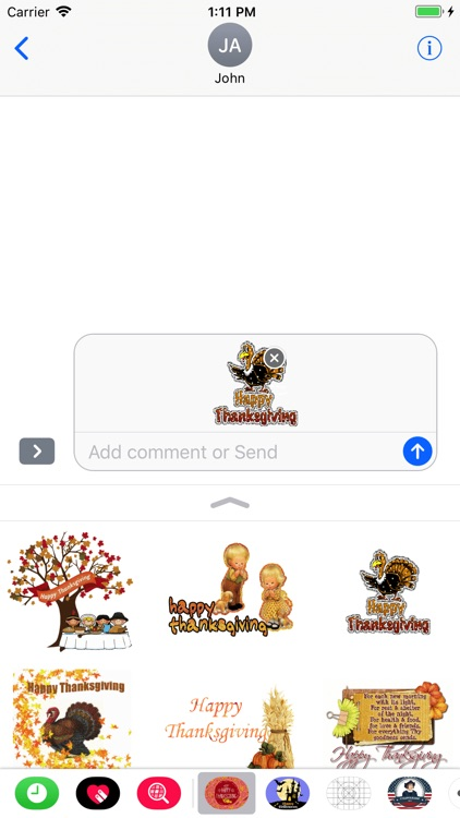 Thanksgiving Day GIF Stickers screenshot-3
