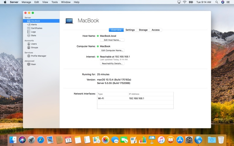 macOS Server Screenshots