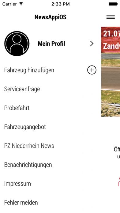 Porsche Zentrum Niederrhein screenshot two