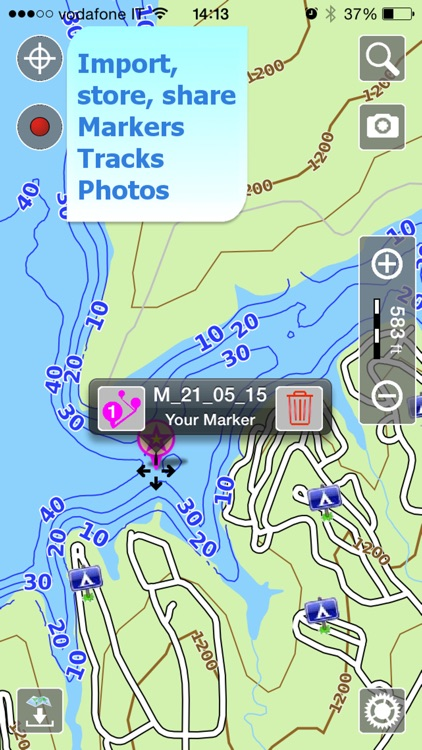 Aqua Map Kansas Lakes GPS HD screenshot-3