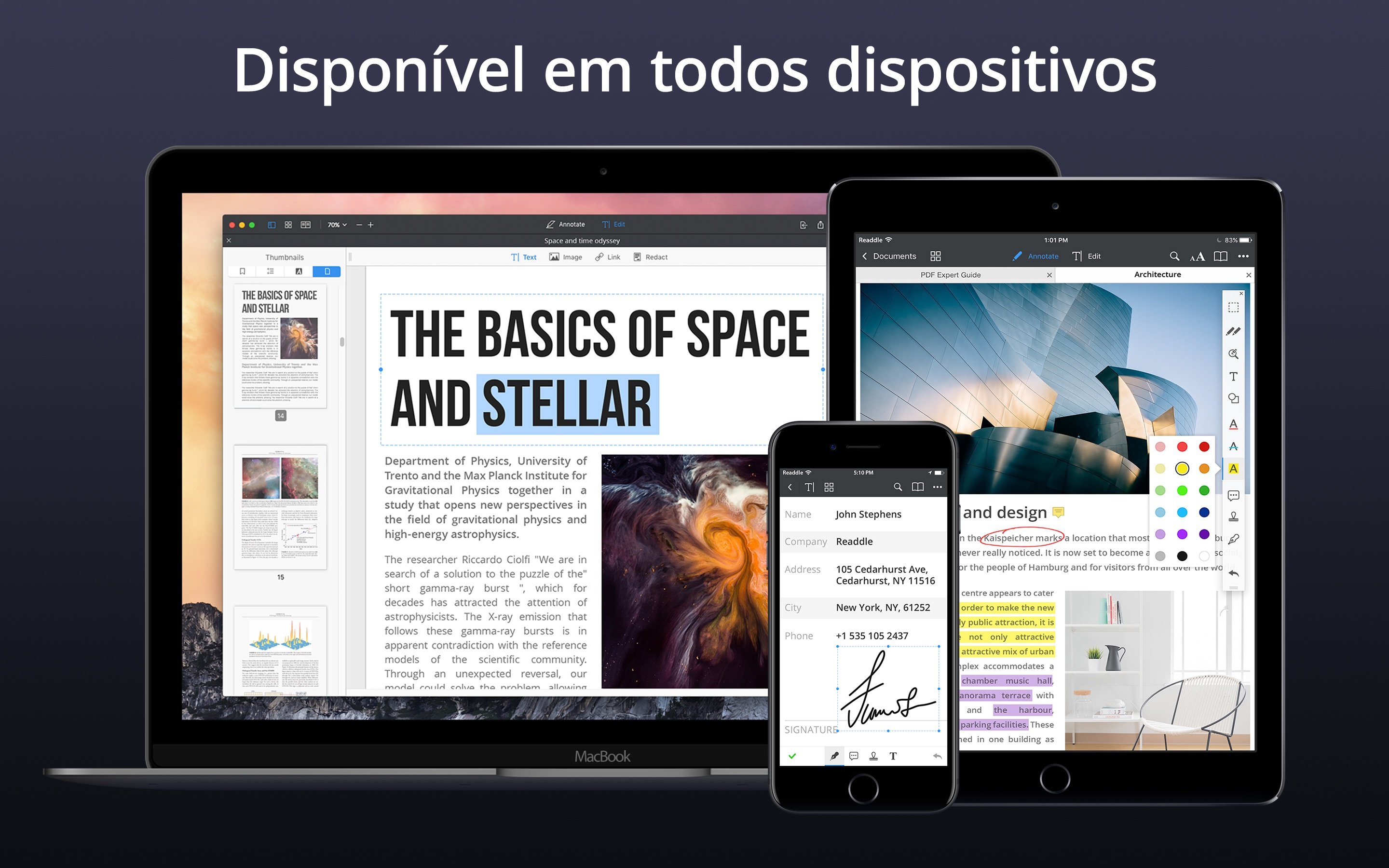 Screenshot do app PDF Expert - Edite PDFs
