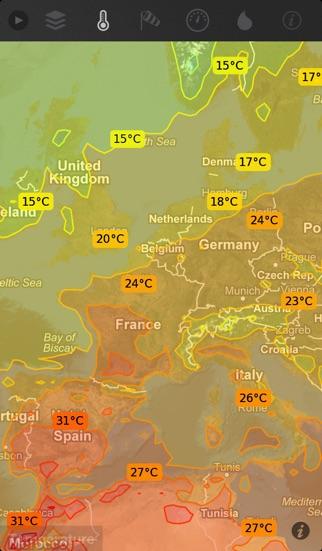 Screenshot for WeatherMap+ in Lebanon App Store