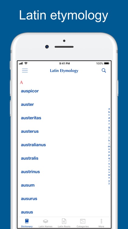 Latin Etymology Dictionary