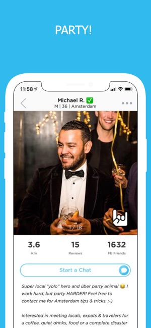 PartyWith - Locals & Travelers on the App Store