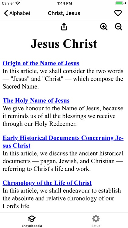 Catholic Encyclopedia Offline screenshot-1