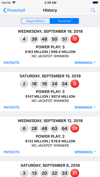 Mega Millions + Powerball - lottery games in the US with