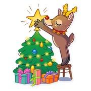 Christmas Mr Deer Sticker 2019