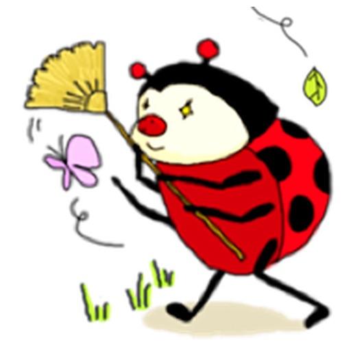 Funny Ladybug Sticker