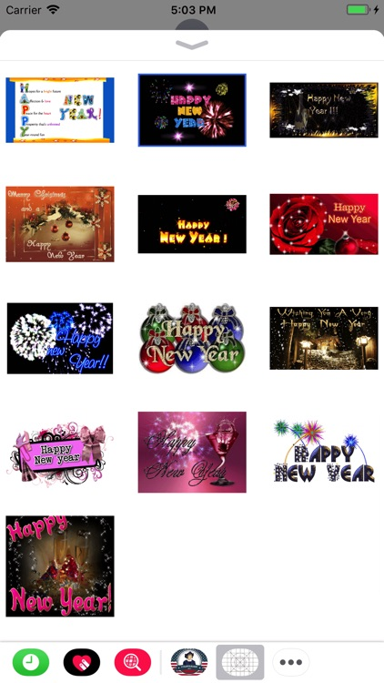 New Year & Diwali GIF Stickers