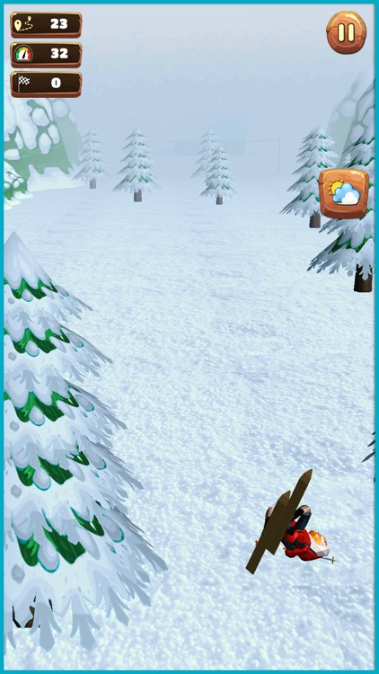 Xtreme hill Skiing Stuntman screenshot-1