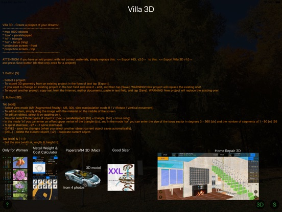 Villa 3D - CAD Home Design Screenshots