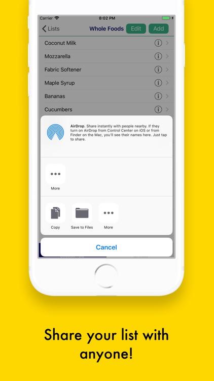 Grocery/Shopping List Pro screenshot-3