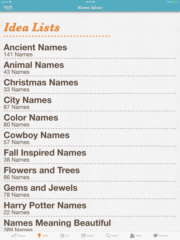 Baby Names™ iPad