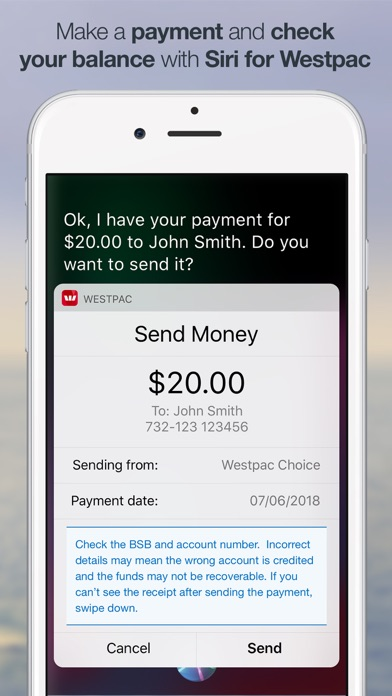 Westpac Mobile Banking screenshot two