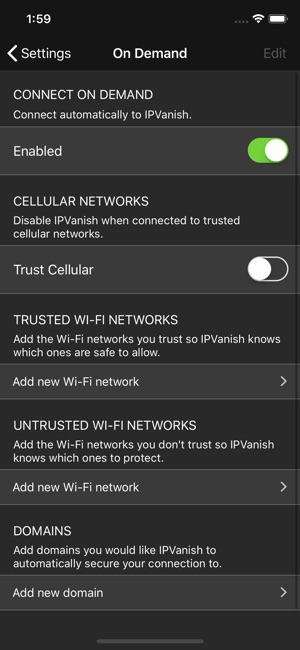 IPVanish VPN: The Fastest VPN Screenshot