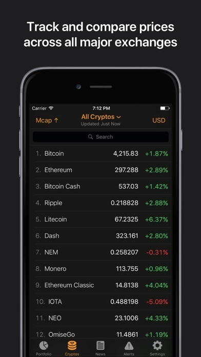 Crypto Pro: Bitcoin Ticker Screenshots