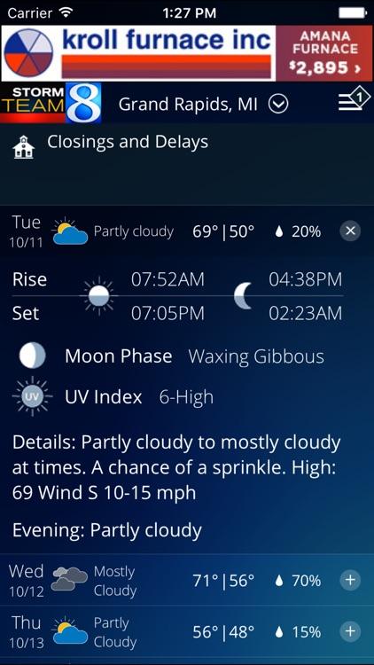 Storm Team 8 - WOODTV8 Weather screenshot-3
