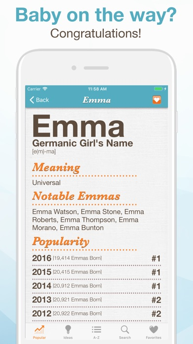 Baby Names™ iPhone