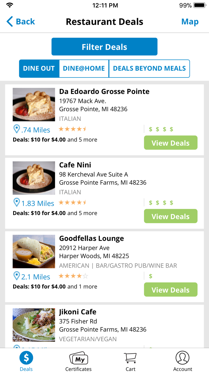 Restaurant.com Screenshot