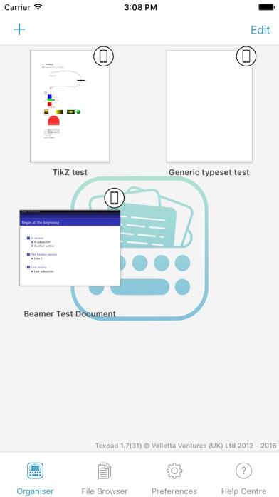 Texpad review screenshots