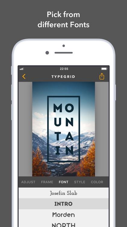 TypeGrid: Typography on Photo