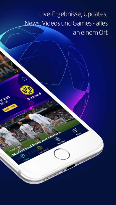 Screenshot for Champions League in Germany App Store