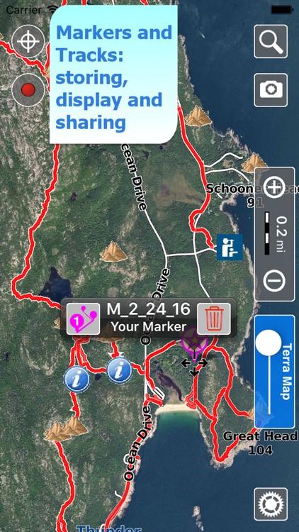 Acadia Trails, GPS Hiking maps screenshot-3