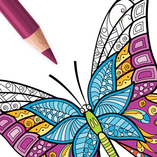 coloring book app adult butterfly coloring book by peaksel