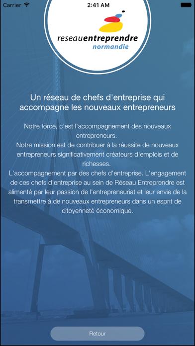 Reseau Entreprendre Normandie screenshot two
