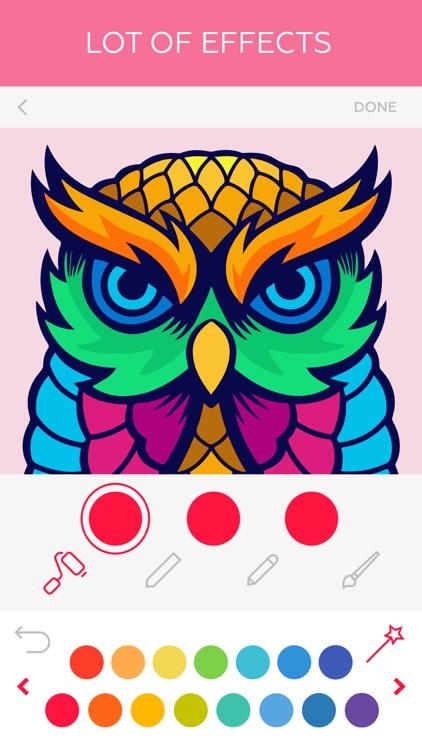 Colorful: coloring book screenshot-3