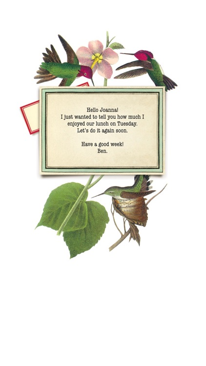 Cartolina mobile greetings.