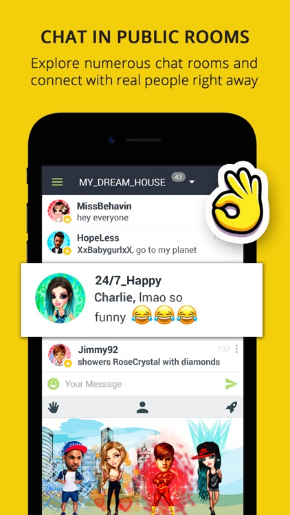 chat rooms avatars galaxy by mobstudio