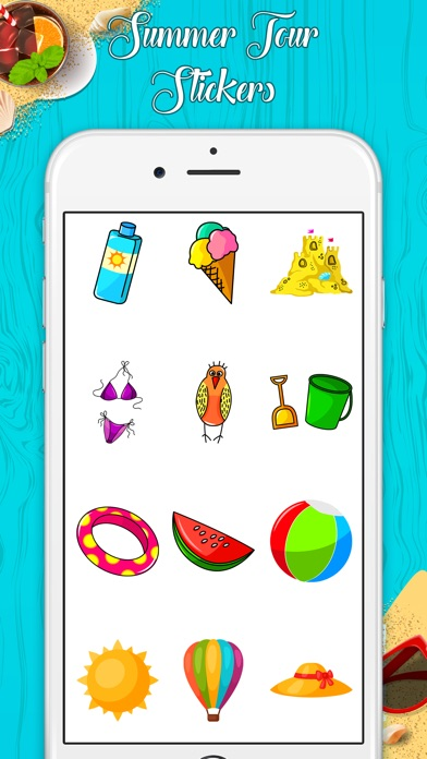 download Stylish Summer Stickers apps 0