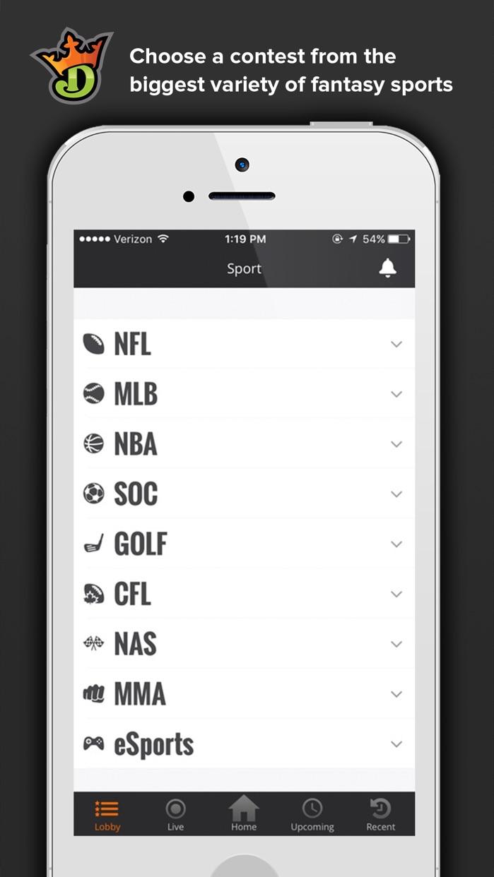 DraftKings Screenshot