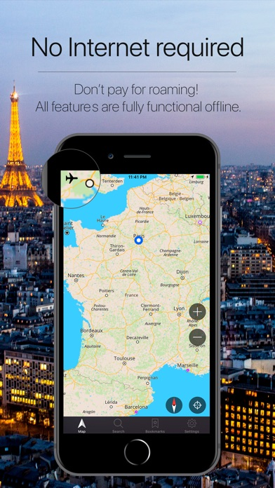 France Offline Navigation Screenshot