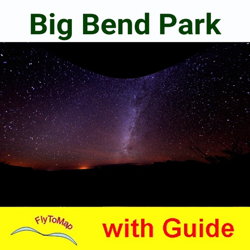 Big Bend National Park GPS outdoor map with guide