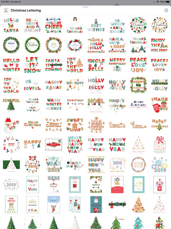 Christmas Lettering Stickers . screenshot 8