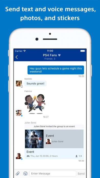 PlayStation Messages app image