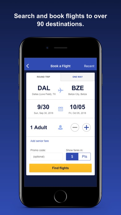 Southwest Airlines iPhone