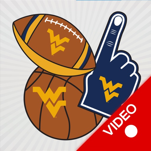 W Virginia Mountaineers Animated Selfie Stickers